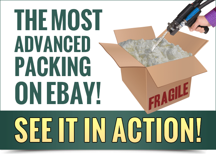 The Most Advanced Packing on eBay with our Instapak Foam-in-Place Machine
